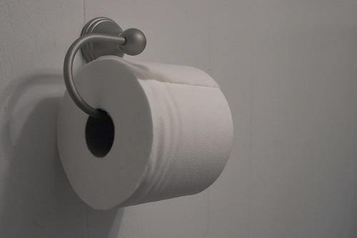 En wc-pappersrulle.