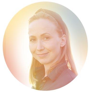 Porträtt på Sandra Holmgård