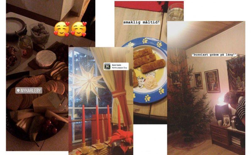 Skärmdumpar av bilder fotade på julafton 2019.