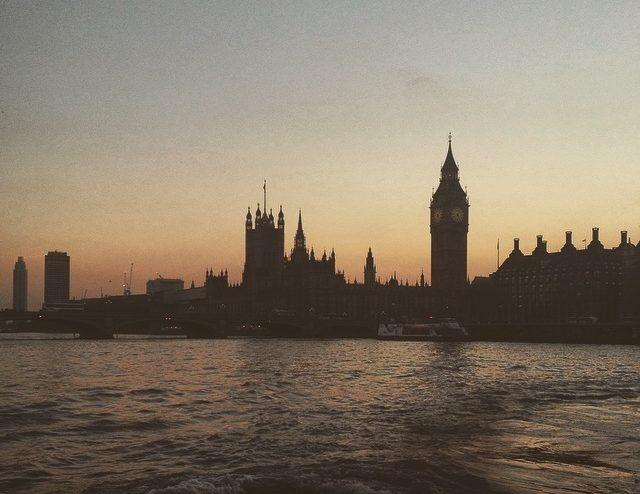 London i skymningen